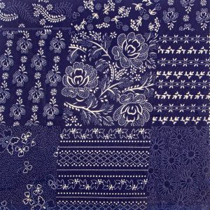 modrotlač patchwork voskový obrúsok