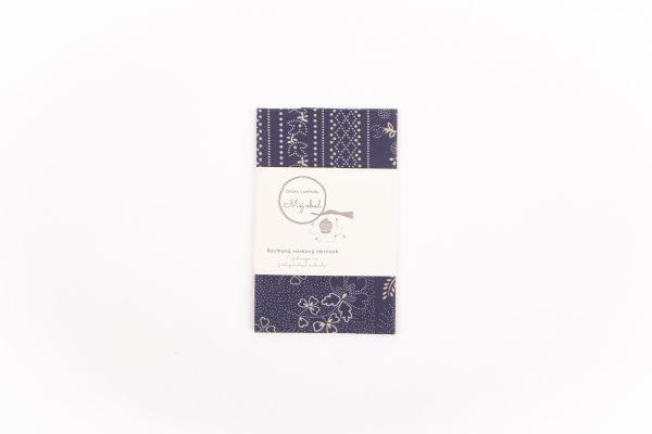 modrotlač patchwork poskladaný