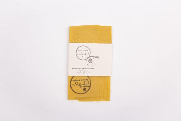nefarbená bavlna s logom voskobal s etiketou