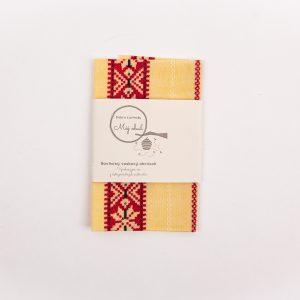 babičkin voskový obrúsok s etiketou