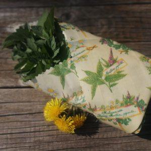 Voskový obrúsok bylinky