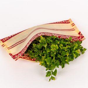 voskovaný obrúsok kapsička s bylinkami